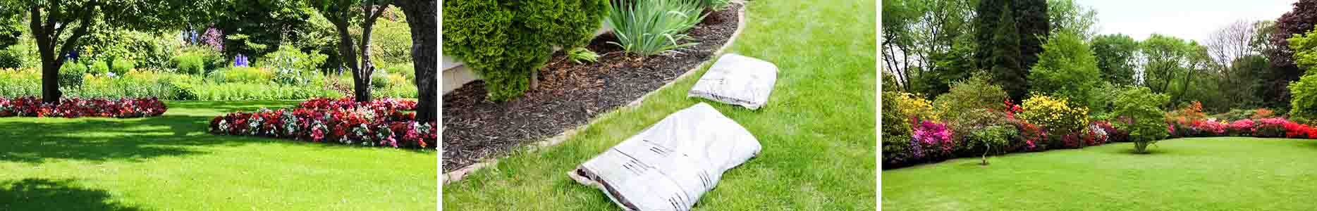 Lawn fertilization header